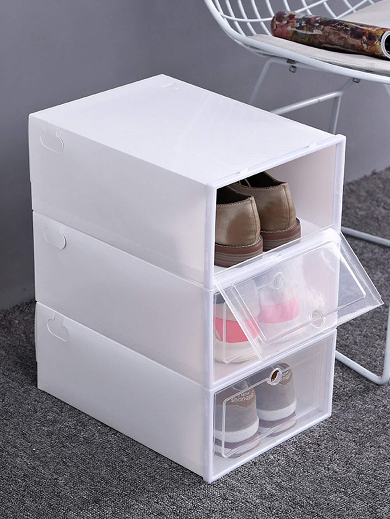 Clear Shoes Storage Box 1pc