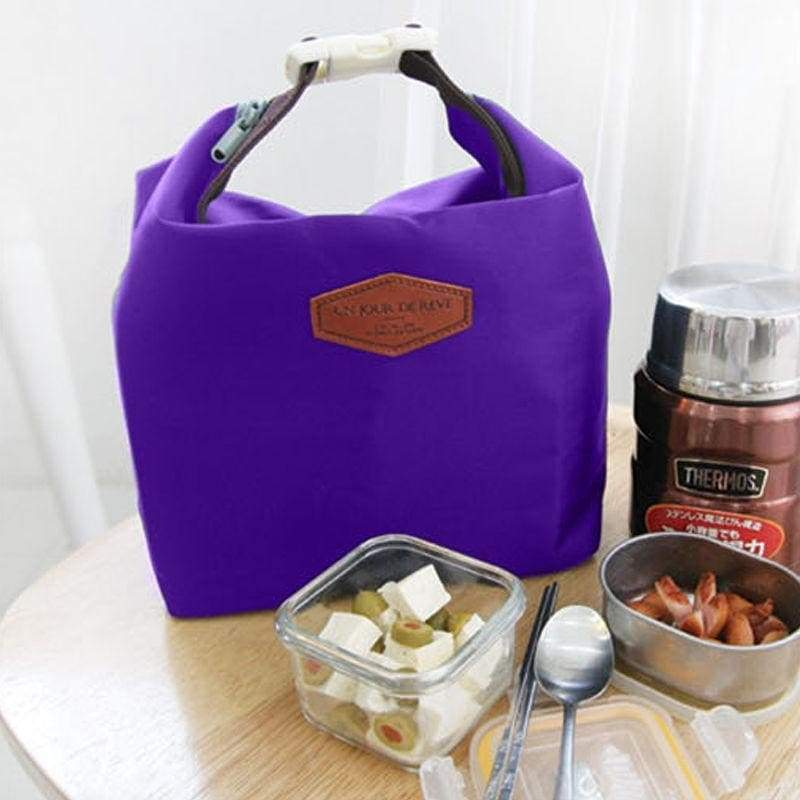 Thermal insulated lunch box cooler bag heat preservation