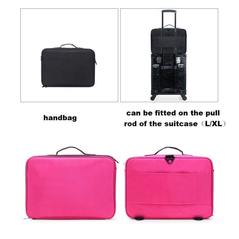 New 2019 Professional Empty Makeup Organizer Bolso Mujer Cosmetic Case Travel  Waterproof  Large Capacity Storage Bag Suitcases