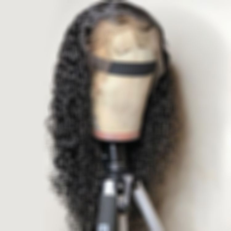 Curly Wigs Lace Front Curly Hair Black Hair Sheitel 14 Inch Deep Wave Wig 360 Lace Frontal Wig Carina Lace Wigs