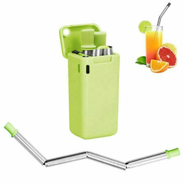 🔥New in 2020🔥-Reusable metal folding portable straw