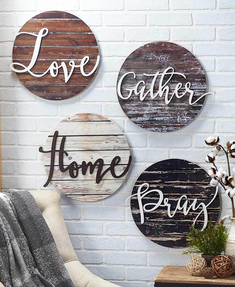 Embellished Sentiment Wall Plaques