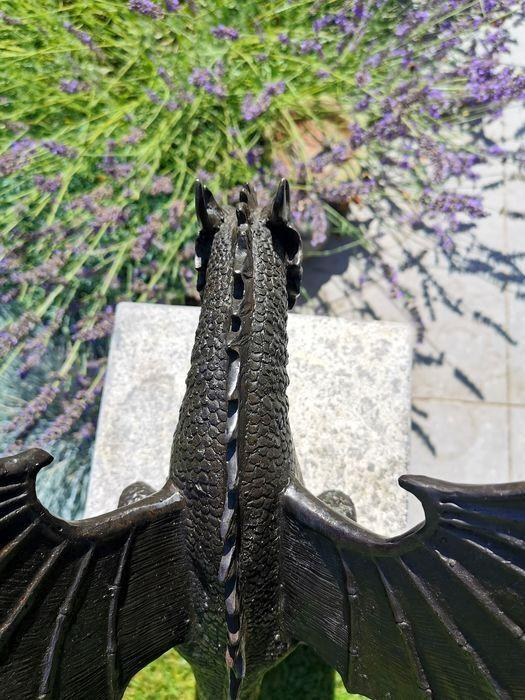 Precision Casting Fire-breathing Dragon Sculpture Waterscape(Please purchase with lighting and water pump)
