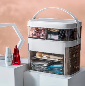 LED light makeup storage box&mirror
