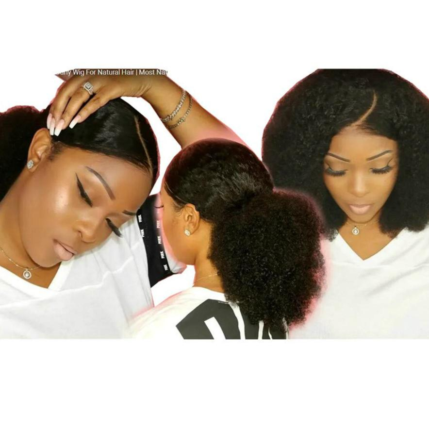 2019 Super Natural Sleek Afro Kinky Curly Wig