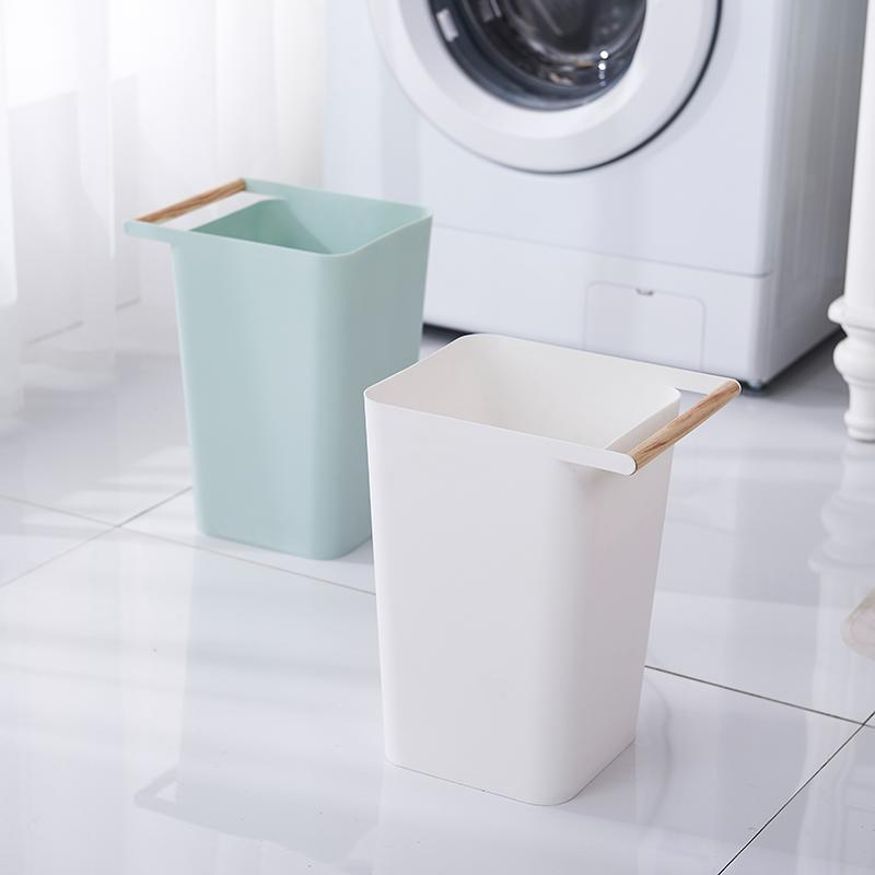 Logo printed dissimilarity plastic trash can/bathroom trash can/kitchen trash can-1.20