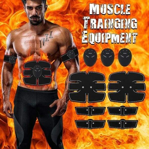 EMS Muscle Training Gear Equipment Abs Abdominal Toning Training Patch Body Exercise Shape Fit Fitness Home Use Kits