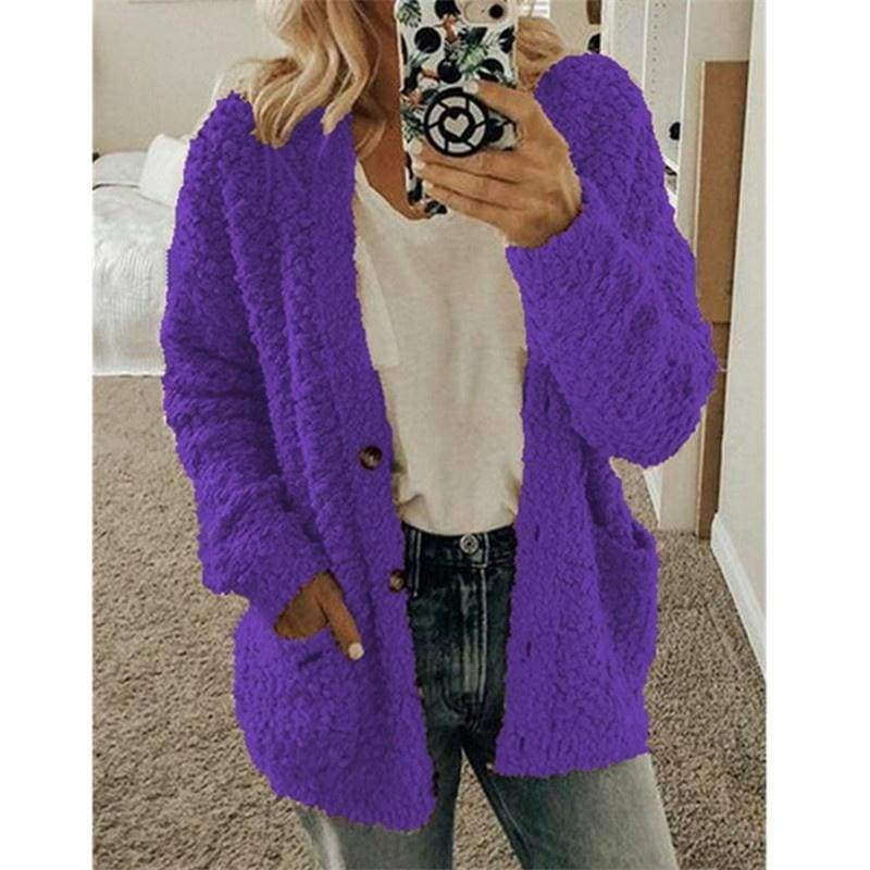 Fashion Women Autumn Casual Cardigan Long Sleeve Sweater Coat Plus Size Tops
