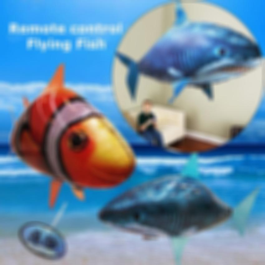 KISSLAY™ Air Swimmers Remote Control Flying Shark & Clownfish
