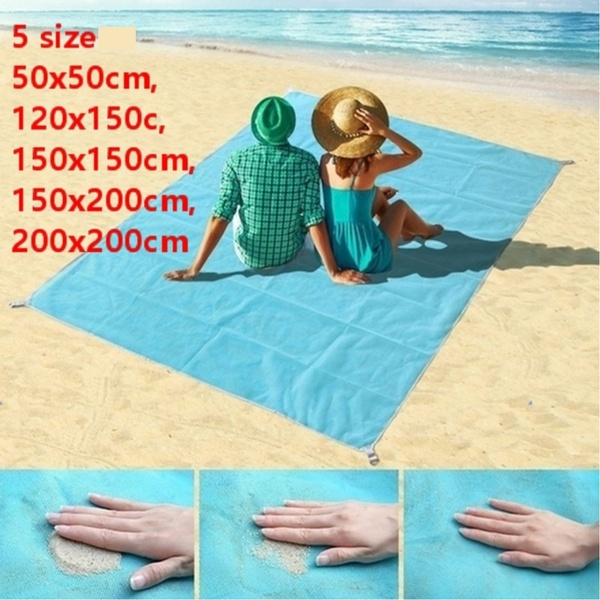 Sand Free Beach Mat Portable Blue beach mat Anti-slip Sand Mats Rug Outdoor mat for Beach support