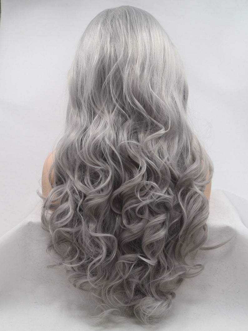 2020 New Gray Hair Wigs For African American Women Cheap Human Hair Lace Wigs Pulling Gray Hair Cheap Human Hair Lace Wigs Bleached Knots Wig 613 Lace Front Wig