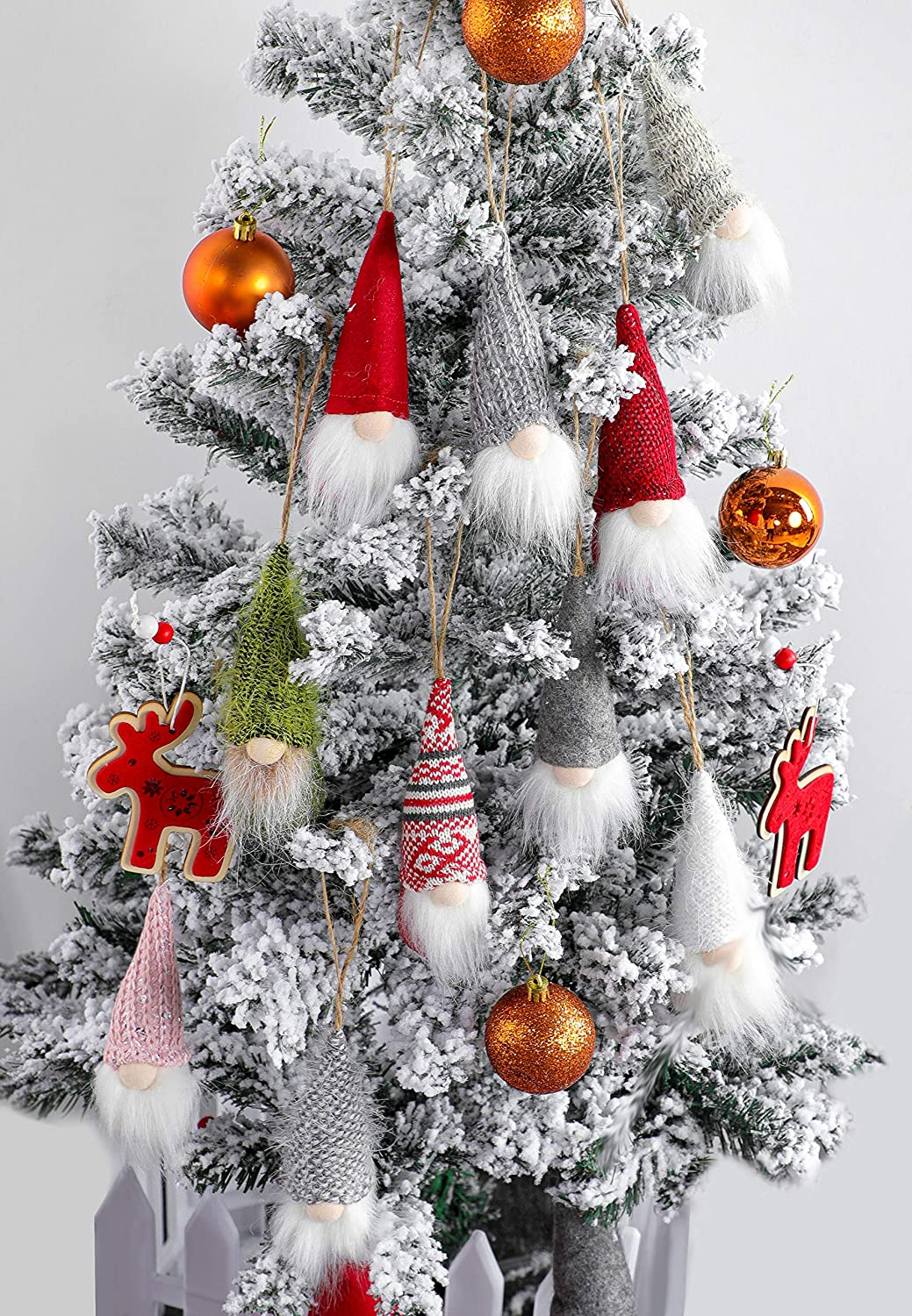Christmas tree hanging dwarf decorations 10-piece set