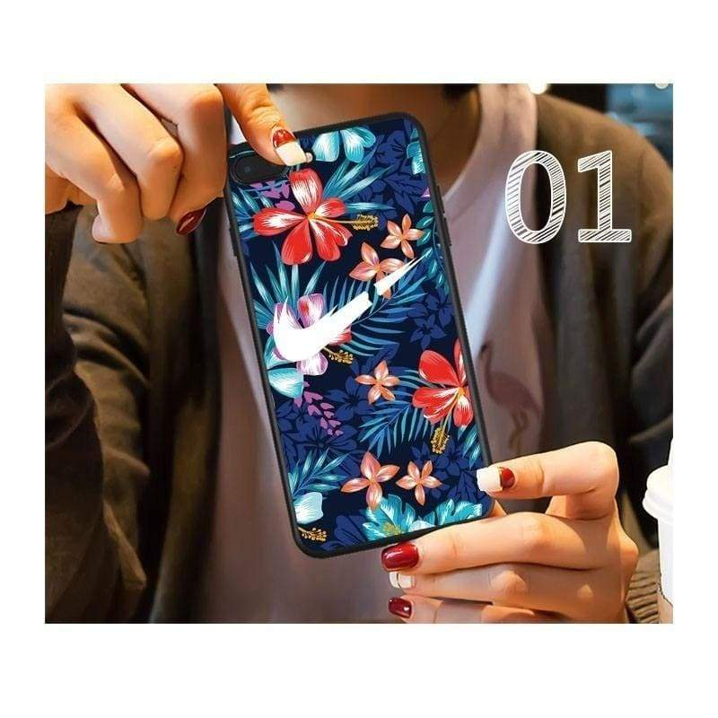Soft Silicone Case for iPhone X XS Max XR 8 7 6 6s Plus Street Sports Phone Cover Logo Flower Couple Matte Fundas Capa