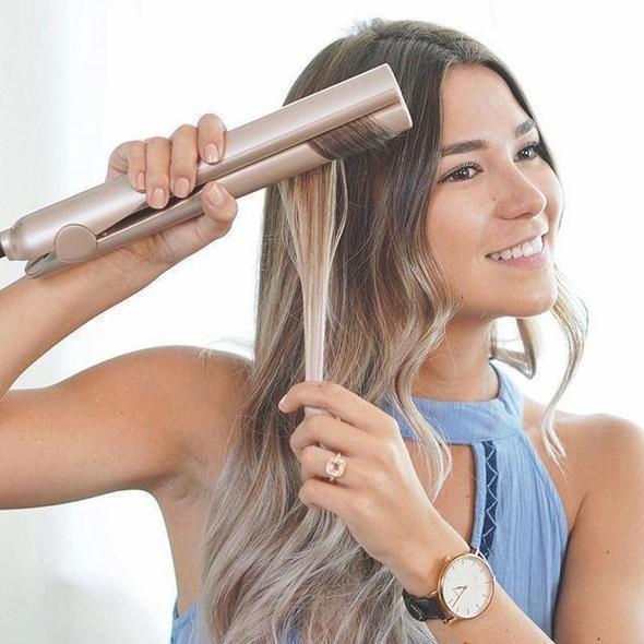 Gold 2 in 1 Straightening Professional Hair Curler