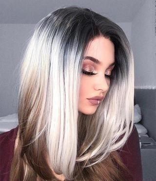 Gray Wigs Lace Hair Best Black Hair Dye For Gray CoverageReverse Highlights For Gray Hair