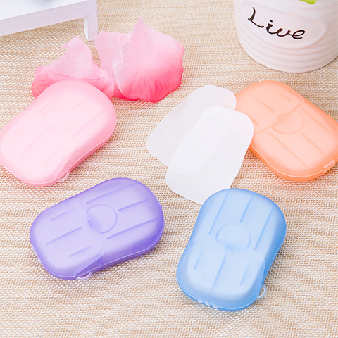 Portable Soluble Disinfectant Soap Paper (20 Sheets)