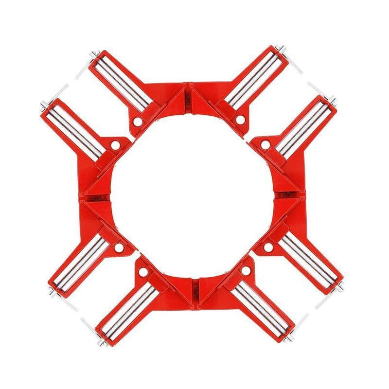 SKRTEN 4 Pack Adjustable 90-Degree Right Angle Clamp for Woodworking