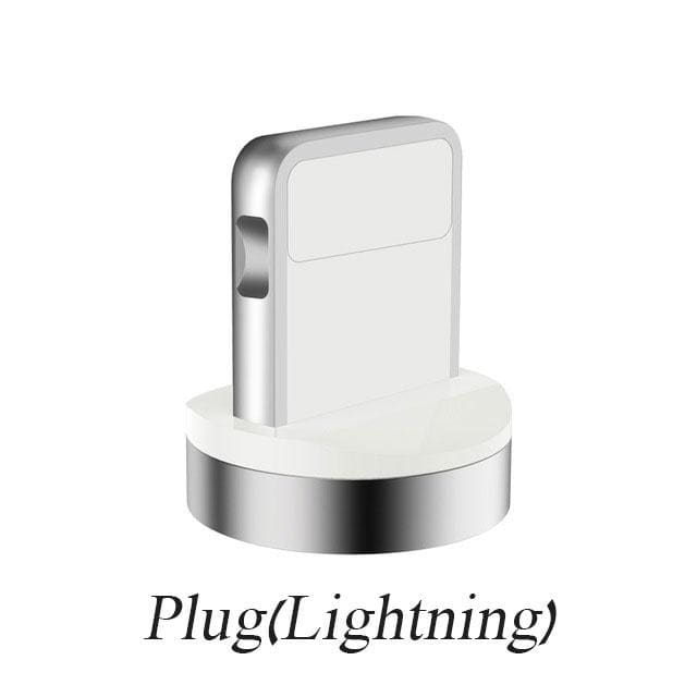 7 Points Magnetic 3A Charger Plug(Not Cable) Data Transfer Micro USB Type-C Samsung Huawei OPPO VIVO Android Phons Lightning for iPhone(Compatible for 7Points Cable)
