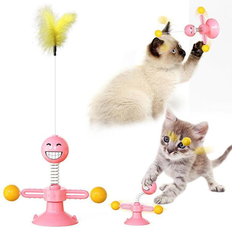 Multifunctional Rotating Cat Toy