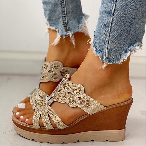 Zoeyootd Platform Wedge Casual Sandals