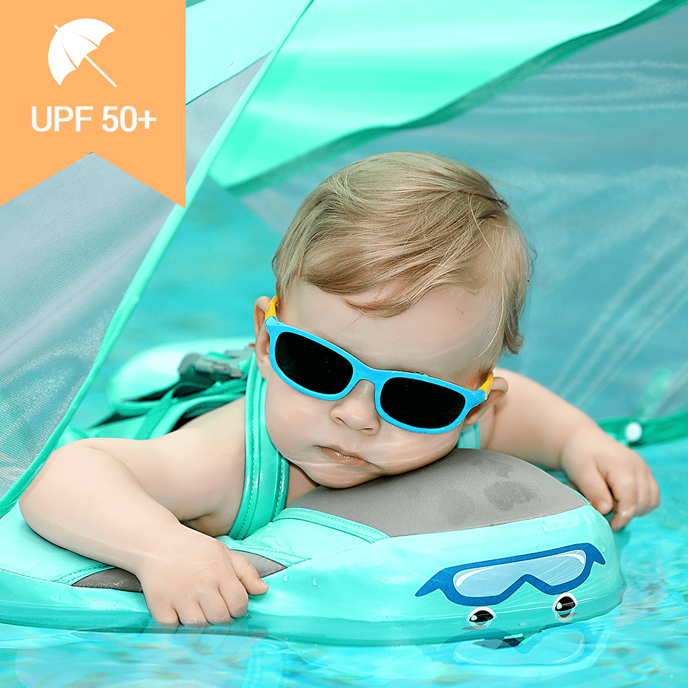 💥Baby Airless Float Ring With UPF50+ Canopy (2021 Deluxe Edition Swim-Trainer)💥