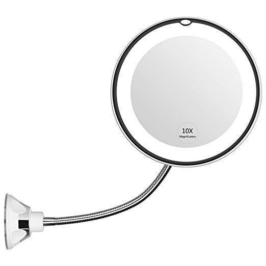 (BUY 2 FREE SHIPPING) 10X Magnification Flexible Light Up Mirror
