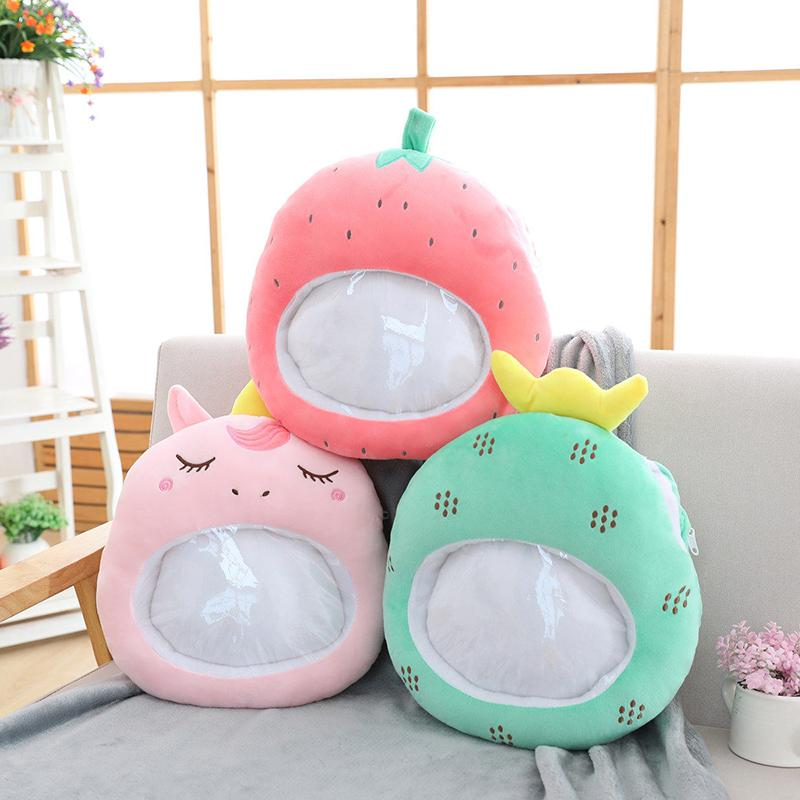New Cute Cartoon Hand Warmer Blanket Plush Toys Christmas Ornaments Decoration