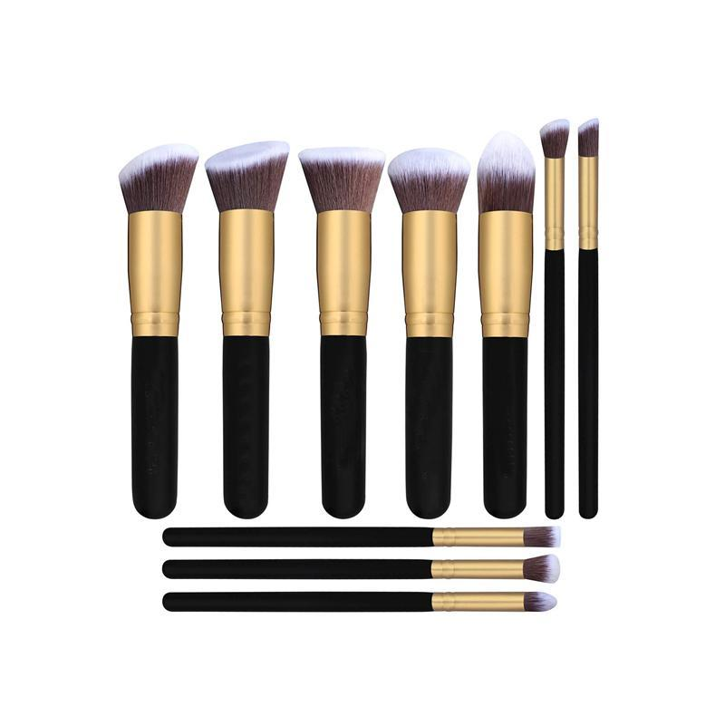 SKRTEN 10 Pcs Makeup Brush Set for Foundation Face Blending Brush Concealer
