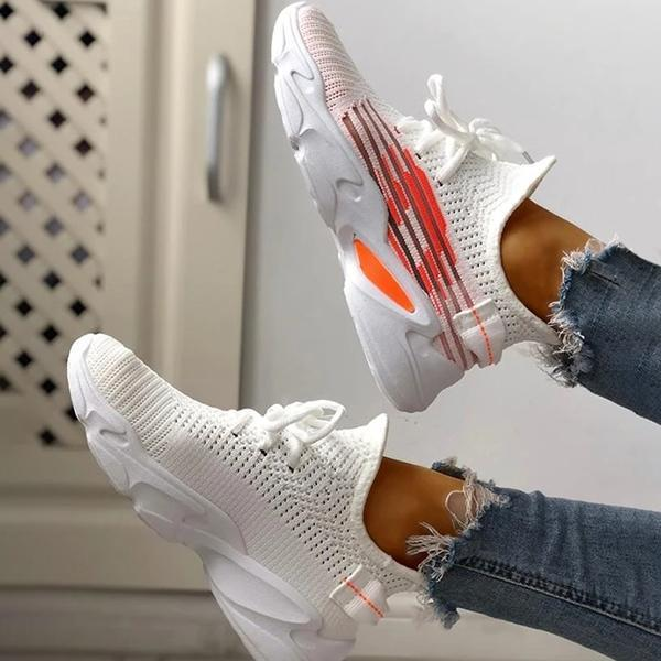 Lemmikshoes Fashion Knitted Lace-Up Yeezy Stretch Sneakers