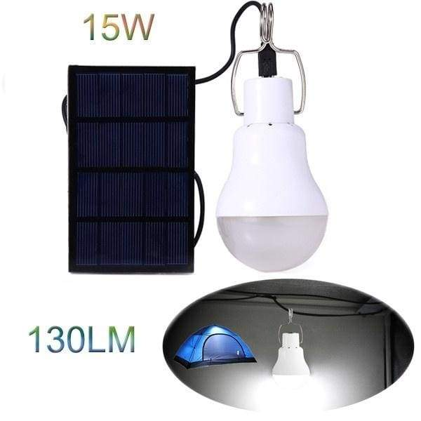 Portable Led Solar Lamp Spotlight with Solar Panel for Outdoor Hiking Camping Tent Fishing Lighting