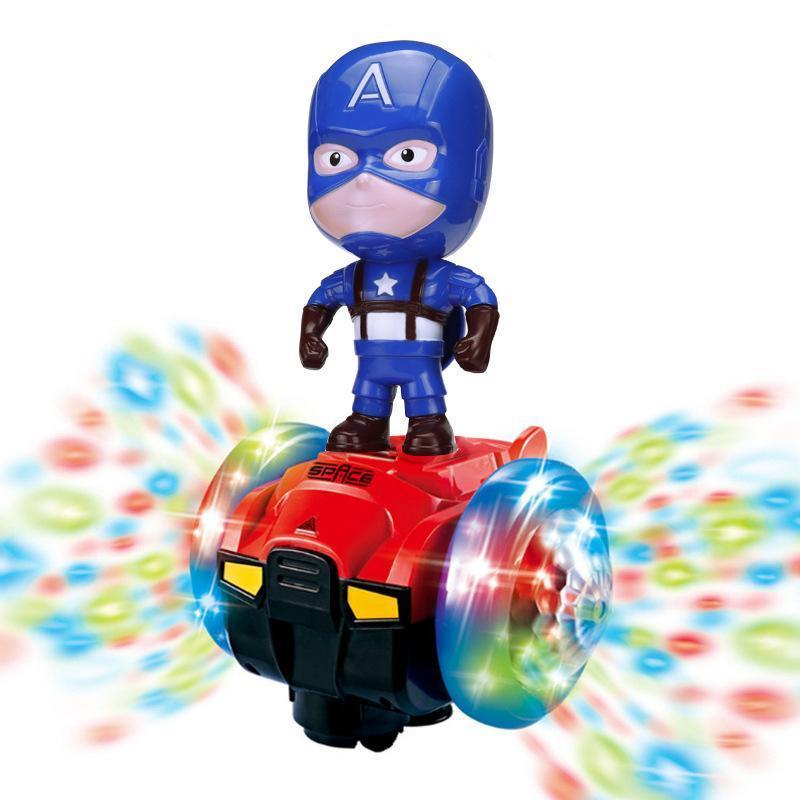 50% OFF--Spiderman/Iron man Scooter Electric Car Music led Light Toys