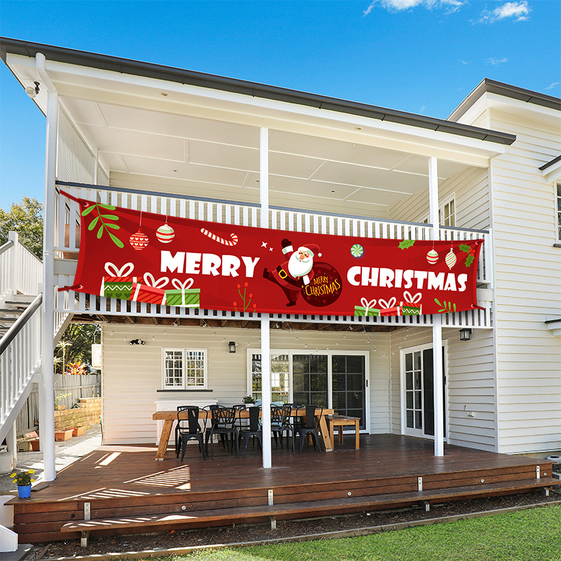 Christmas Sale!  Outdoor Banner Flag Pulling
