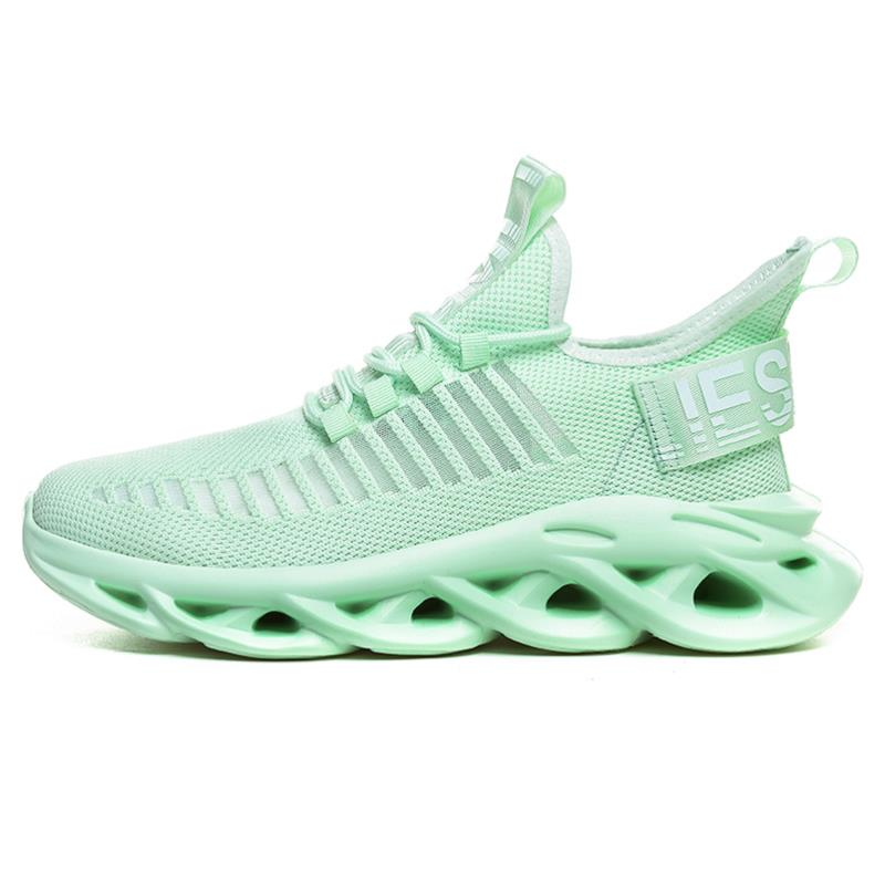 Men Lightweight Blade Running Shoes Shockproof Lace up Breathable Mens Sneakers Height Increase Walking Gym Shoes