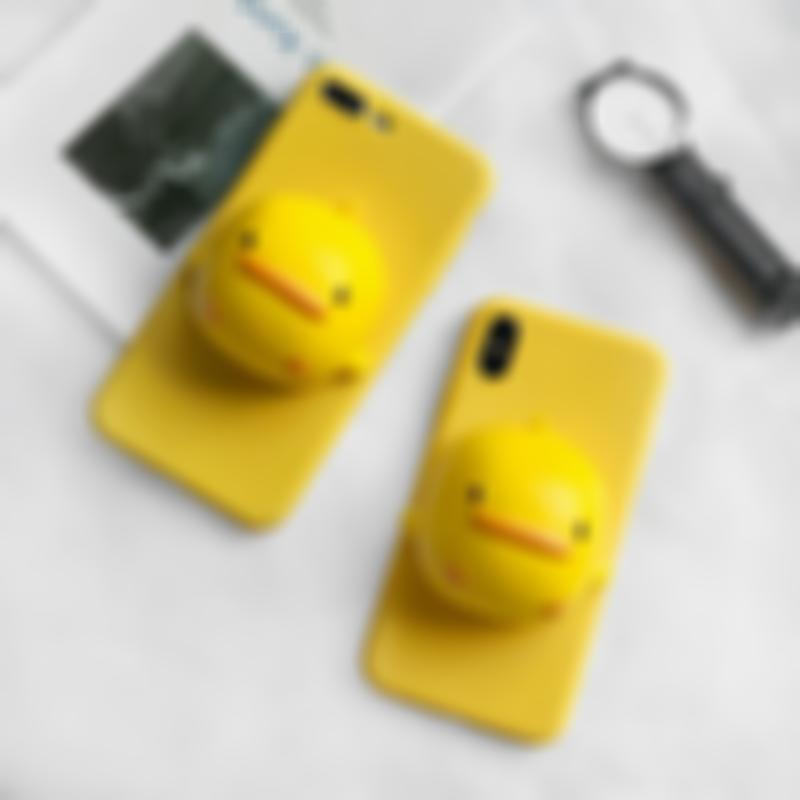 Knead decompression--3D Cute little yellow duck IPhone Case