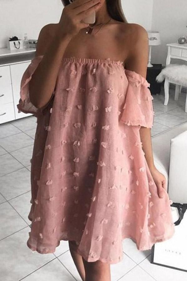 Leisure Point Bandeau Sexy Loose Dress