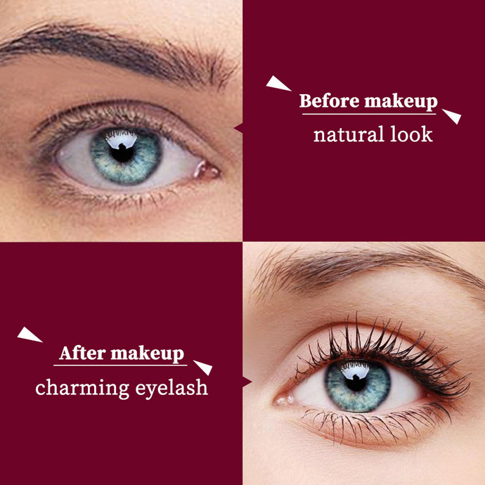 Buy One Get One Free - 4D 2 In 1 Waterproof Silk Fiber Double Lengthening Curling Thick Mascara