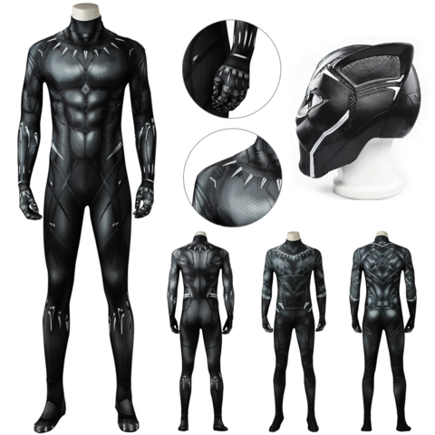 BLACK PANTHER MASKS FOR COSPLAY LATEX PARTY 3D MOVIE MASK HALLOWEEN PROPS