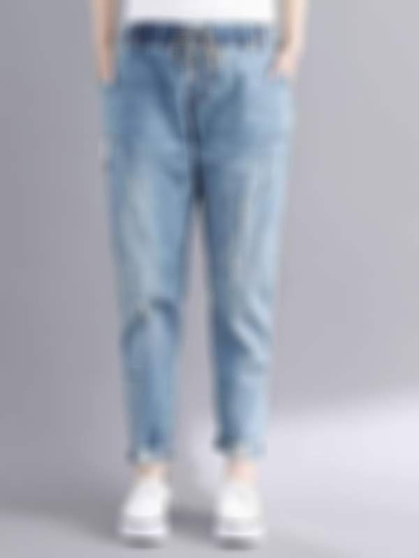 Plus size hole jeans