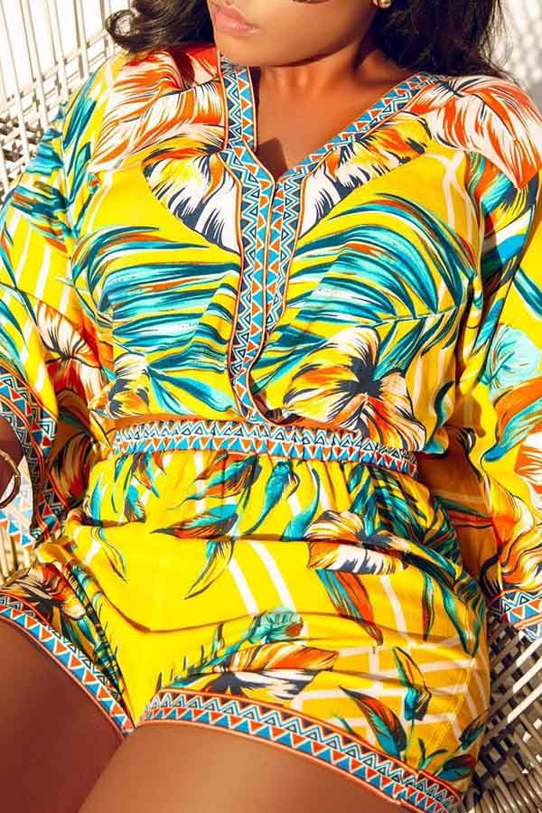 Tropical Print Two Piece