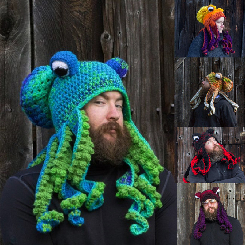 2020 new hand-woven octopus wool hat for adults🎁Christmas Gift🎁