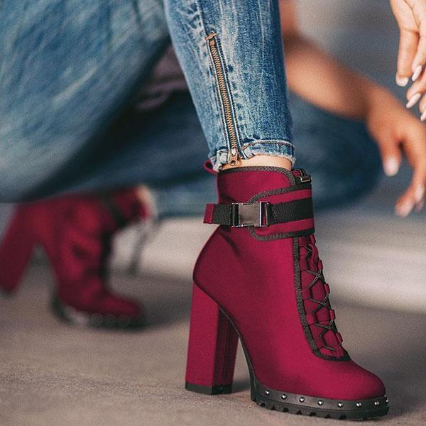 Faddishshoes  Fall Winter High Heel Comfy Boots
