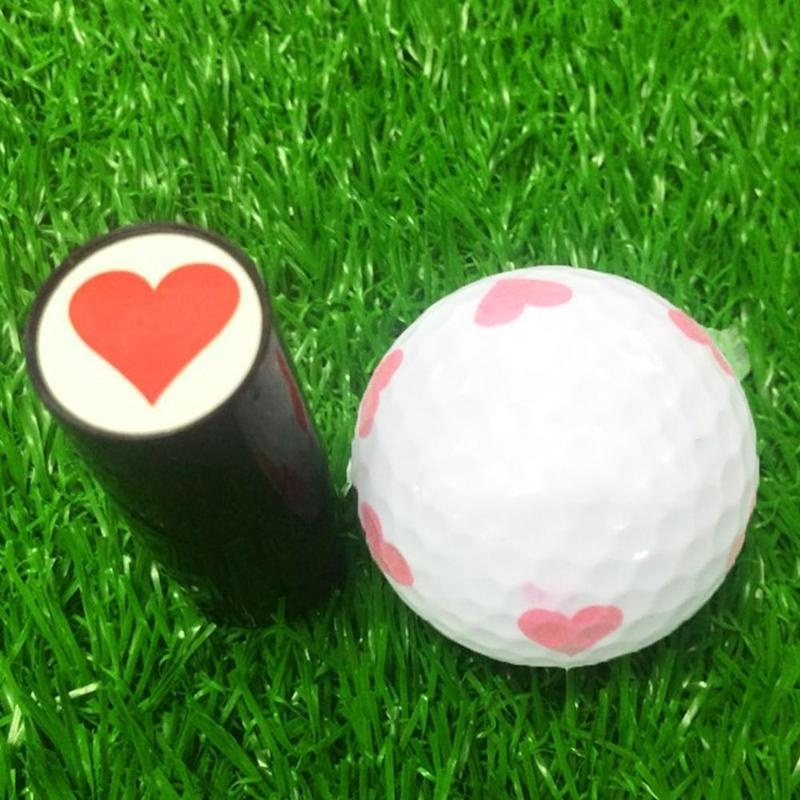 Plastic Golf Ball Stamper Stamp Marker Impression Seal Golf Club Symbol Gifts ( Random Color )