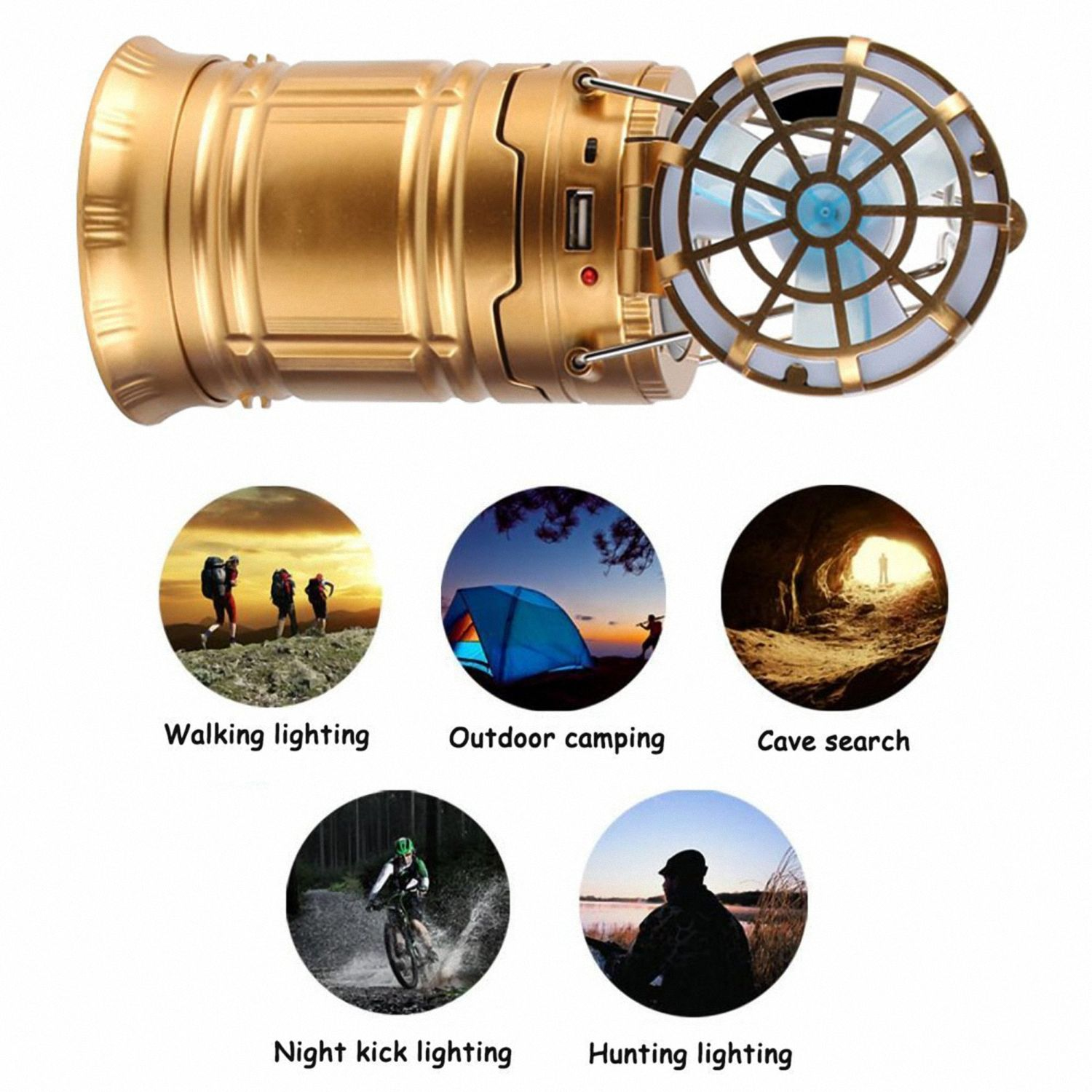 4-in-1 LED Outdoor Camping