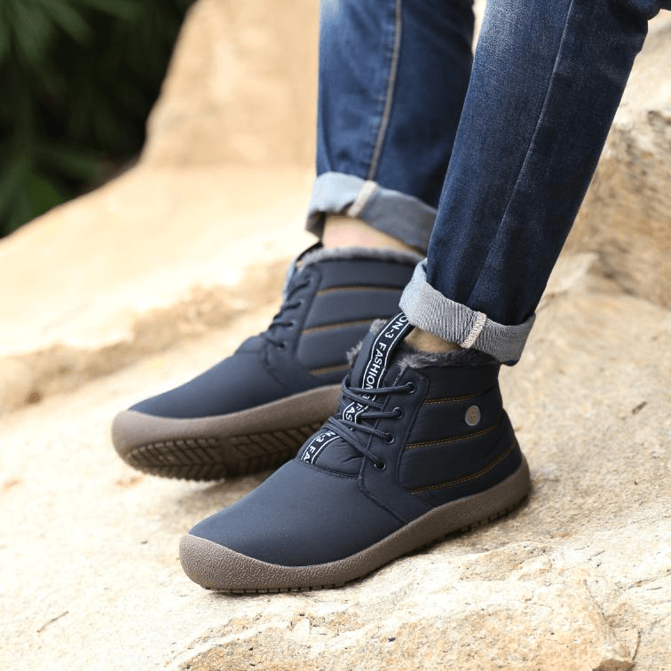 Men's High Top Water-resistant Fur Lined Outdoor Boots
