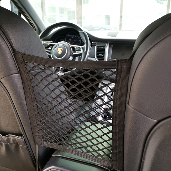 Double-layer storage net pocket in car seat