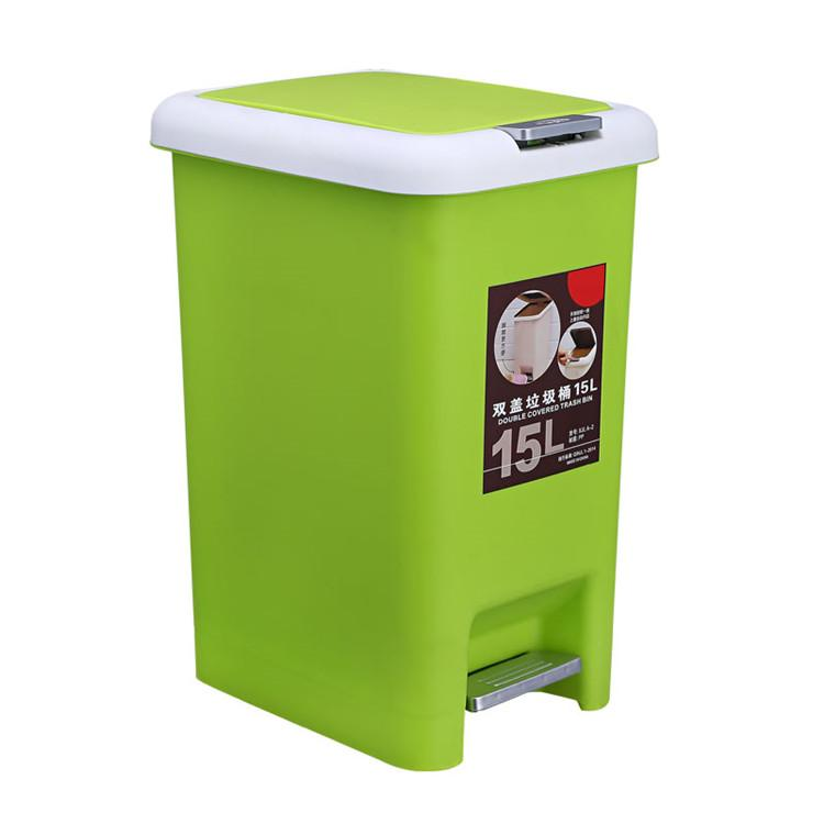 Household square plastic trash can, foot plastic trash can-1.20