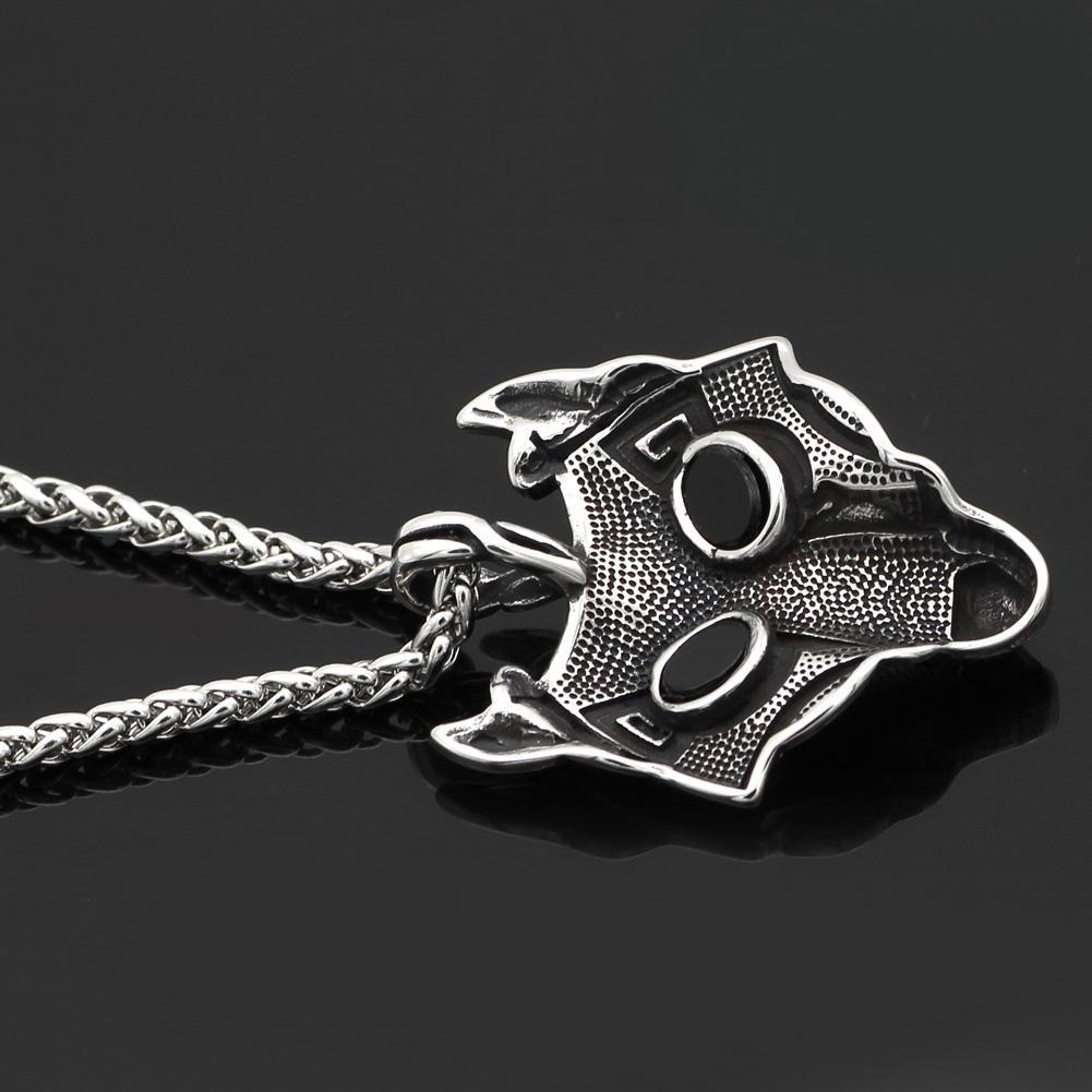 Stainless Steel Fenrir Pendant on Stainless Steel Chain