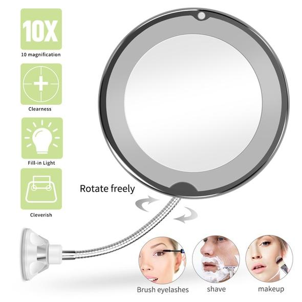 👉COD👈LED Lighted 10X Magnifying Makeup Mirror