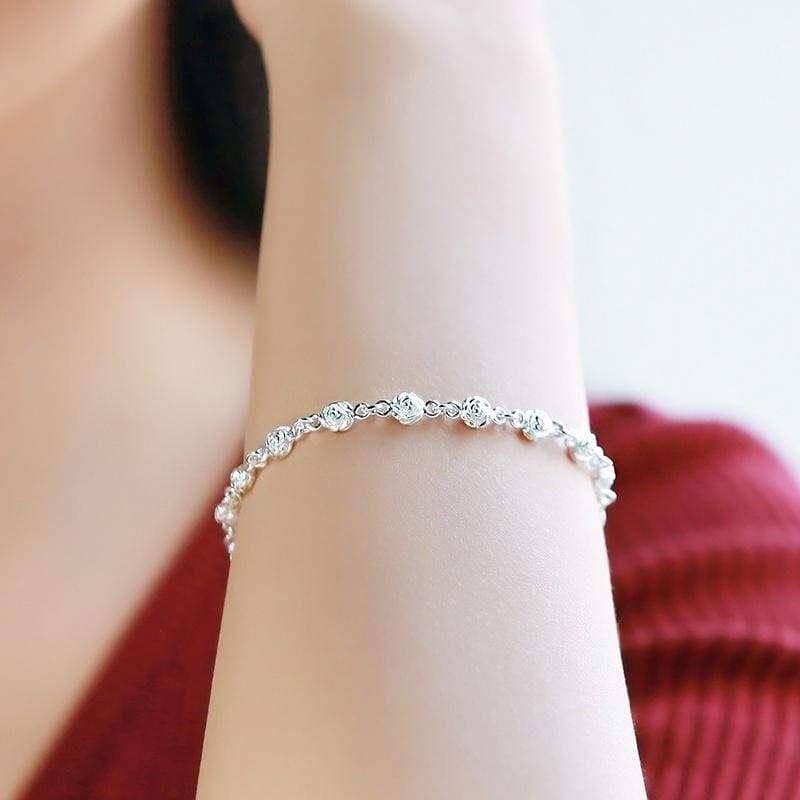 S925 sterling silver diamonds sparkling bracelet