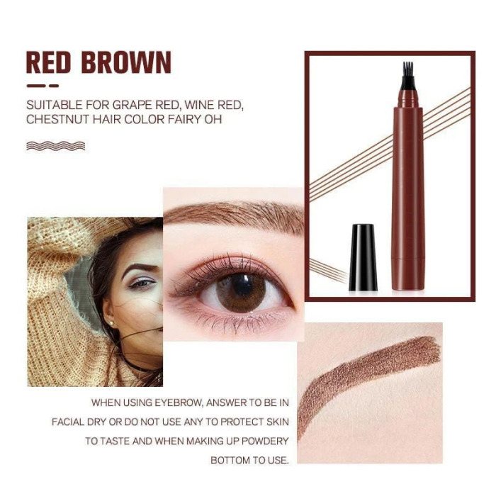 (BUY 1 GET 1 FREE)4 POINTS EYEBROWN PEN